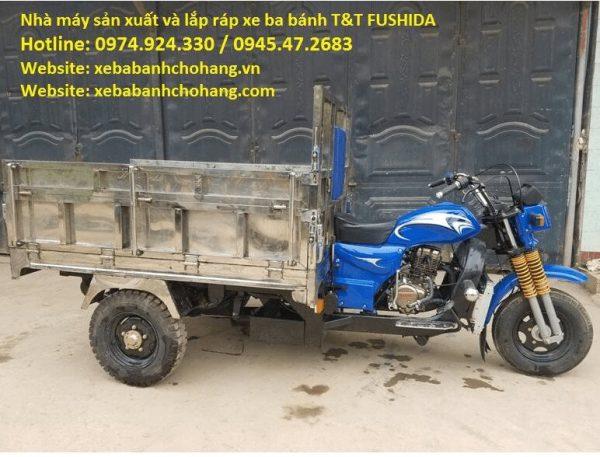 xe ba gác thùng inox