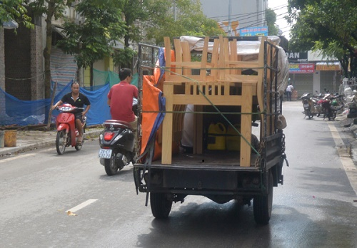 xe ba gác vận chuyển đồ gần