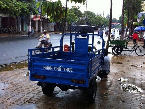 Xe được sử dụng để chở hàng thuê