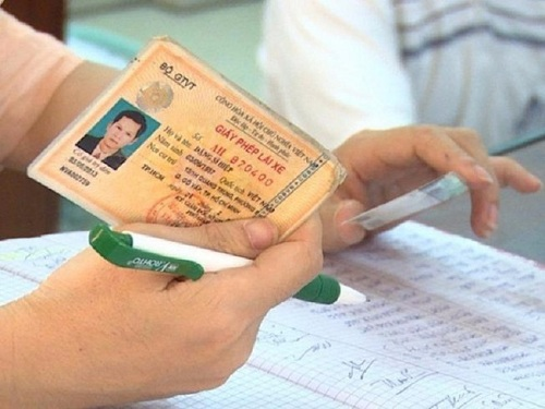 giấy phép lái xe ba bánh